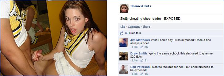 Cheating sluts exposed